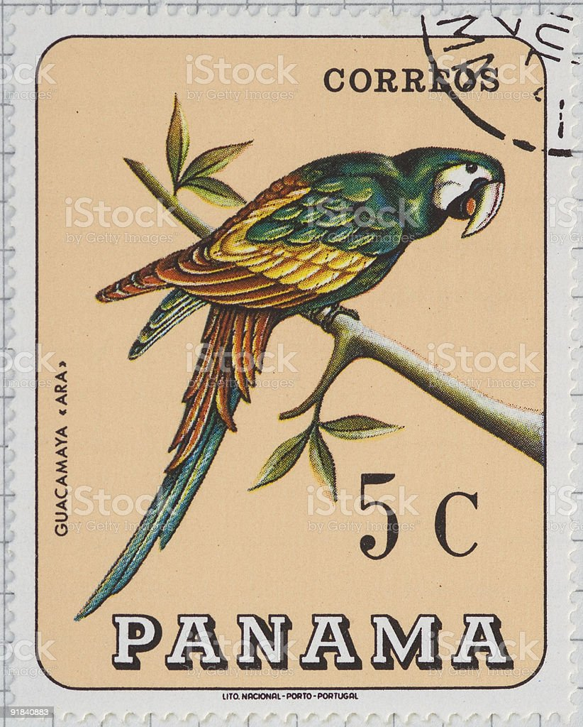 Panama postage stamp royalty-free stock photo