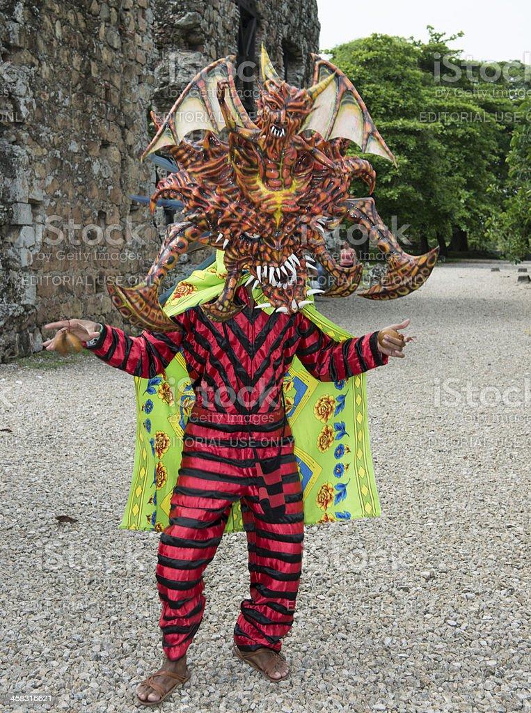 Panama Traditional Costum Man stock photo