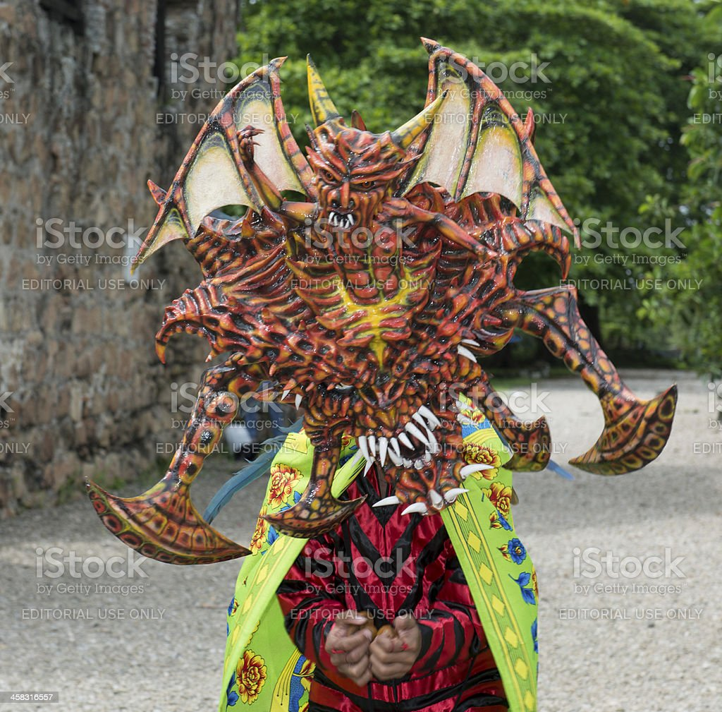 Panama traditional costume man stock photo