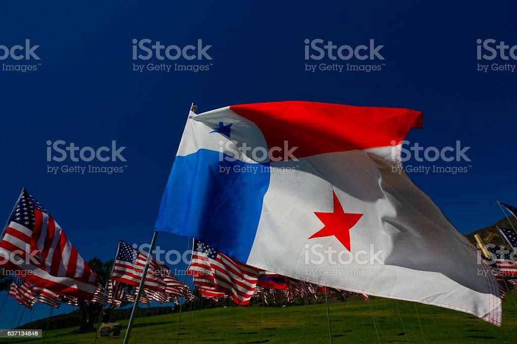 Panamanian American Relations stock photo