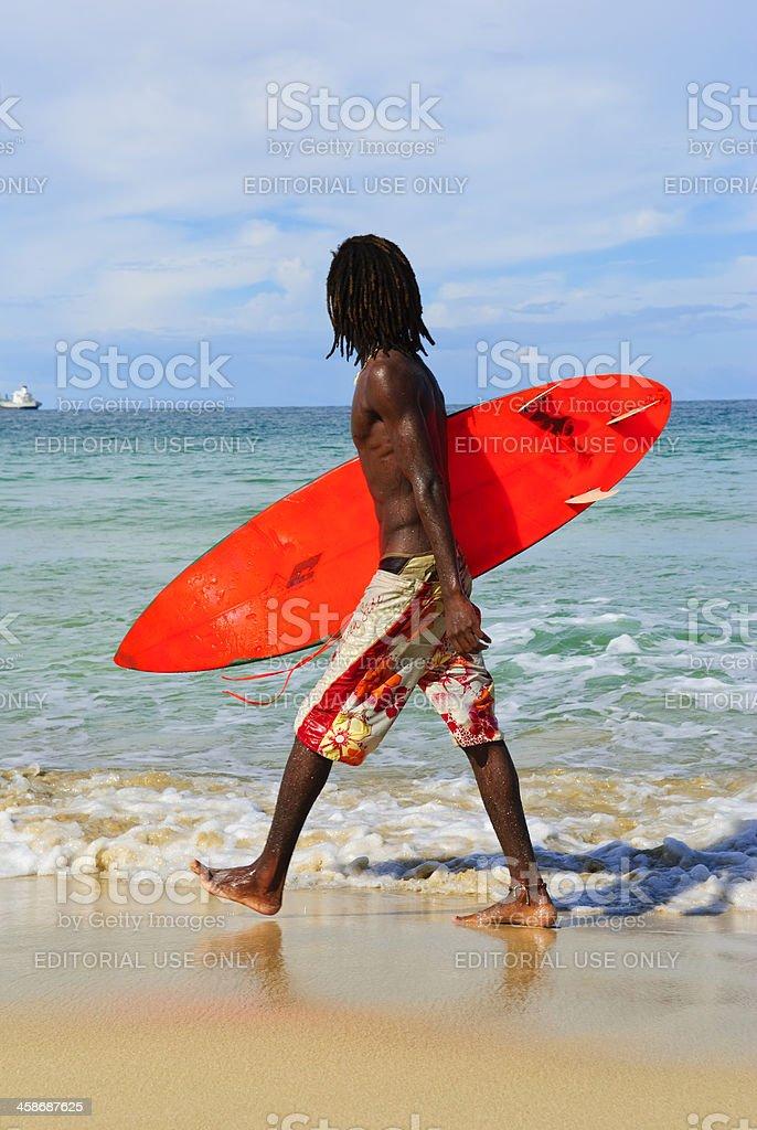 Panamanian surfer royalty-free stock photo