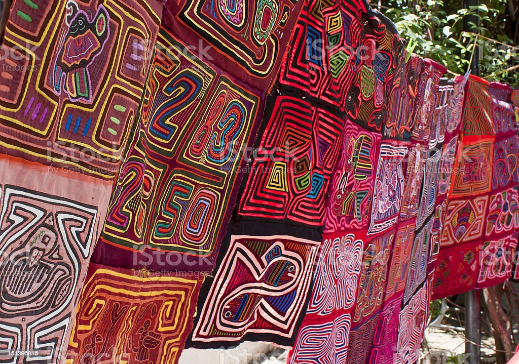 Panamanian Textiles stock photo