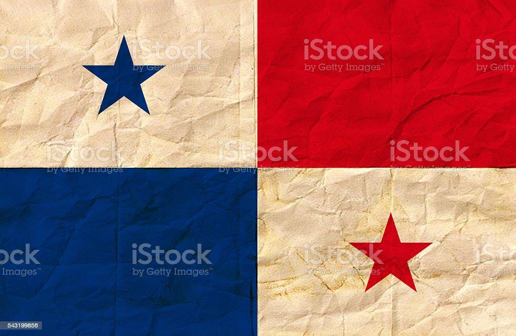 Panamanian vintage Flag stock photo