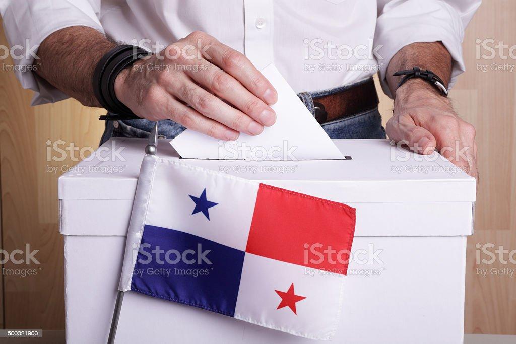 Panamanians to vote stock photo