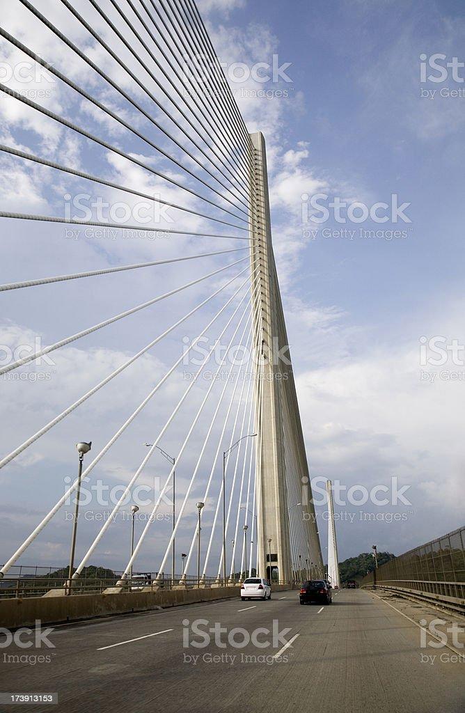 Panama's Centennial suspension bridge. stock photo