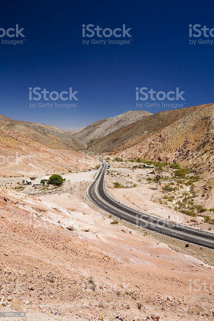 Panamerican Highway in the Desert stock photo