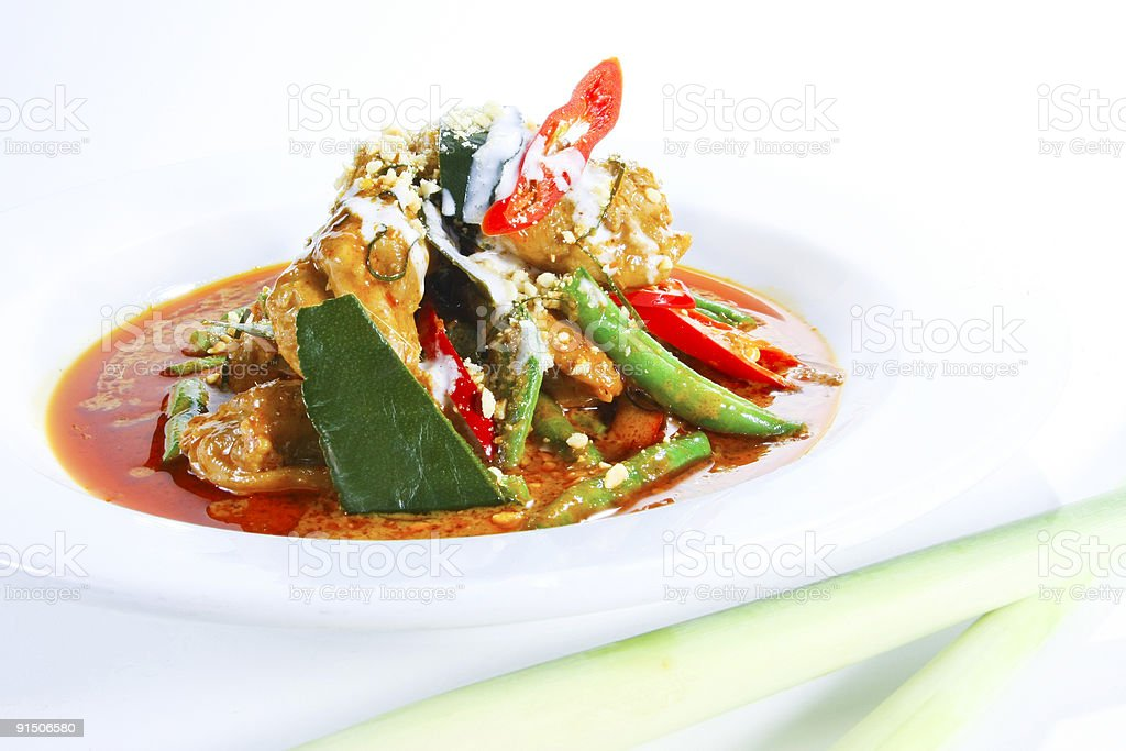 Panang Curry Chicken royalty-free stock photo