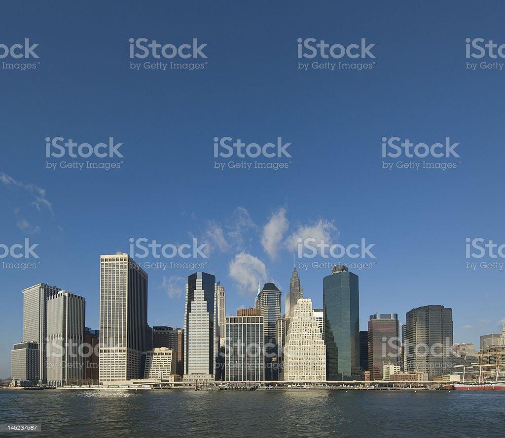 panaorama of manhattan, new york royalty-free stock photo
