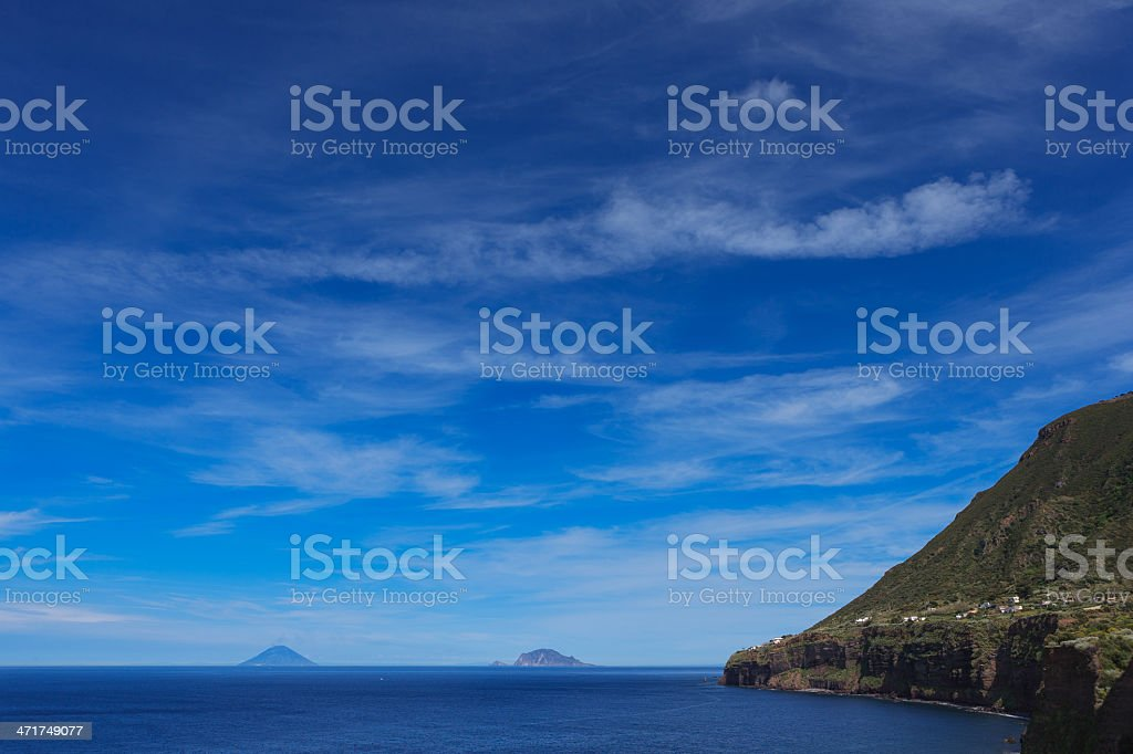 panarea e stromboli stock photo