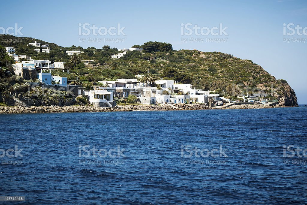 Panarea in Sicily stock photo