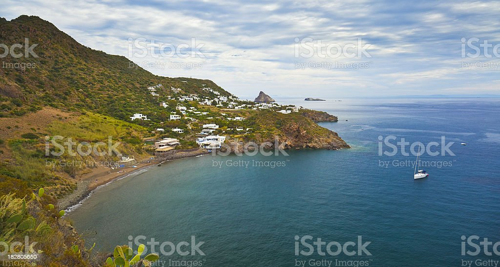 Panarea Island stock photo