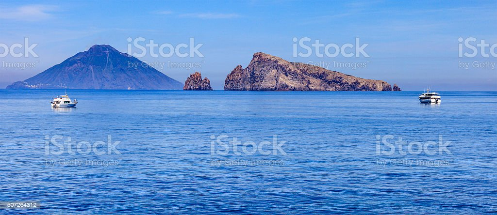 Panarea, Lisca Bianca - Aeolian Islands, Sicily stock photo
