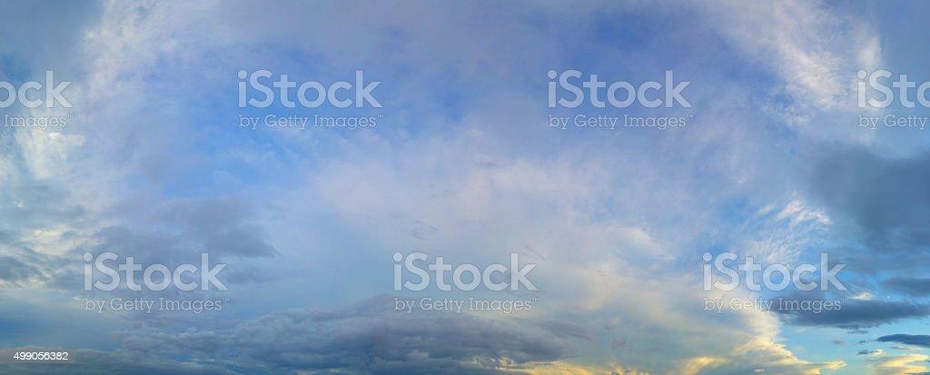 Panaromic Sky with Clouds stock photo
