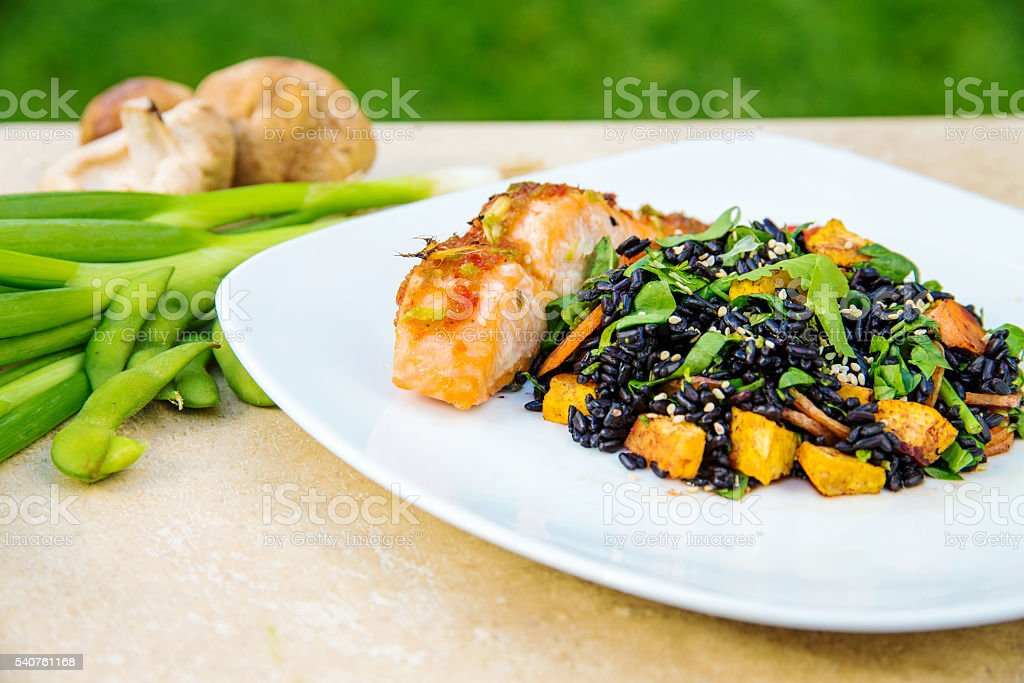 Pan-Asian dish stock photo