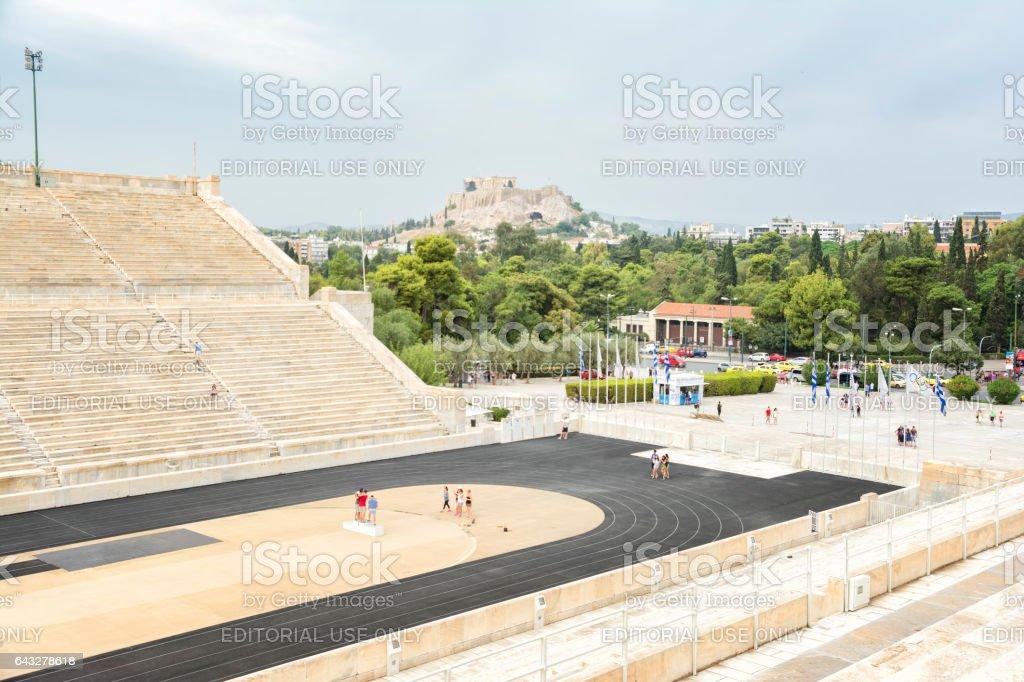 Panathenaic Stadium, Athens, Greece stock photo