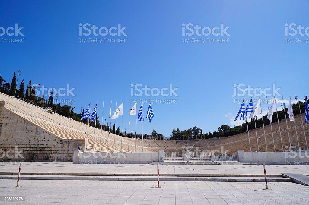 Panathenaic Stadium is an athletic stadium in Athens stock photo