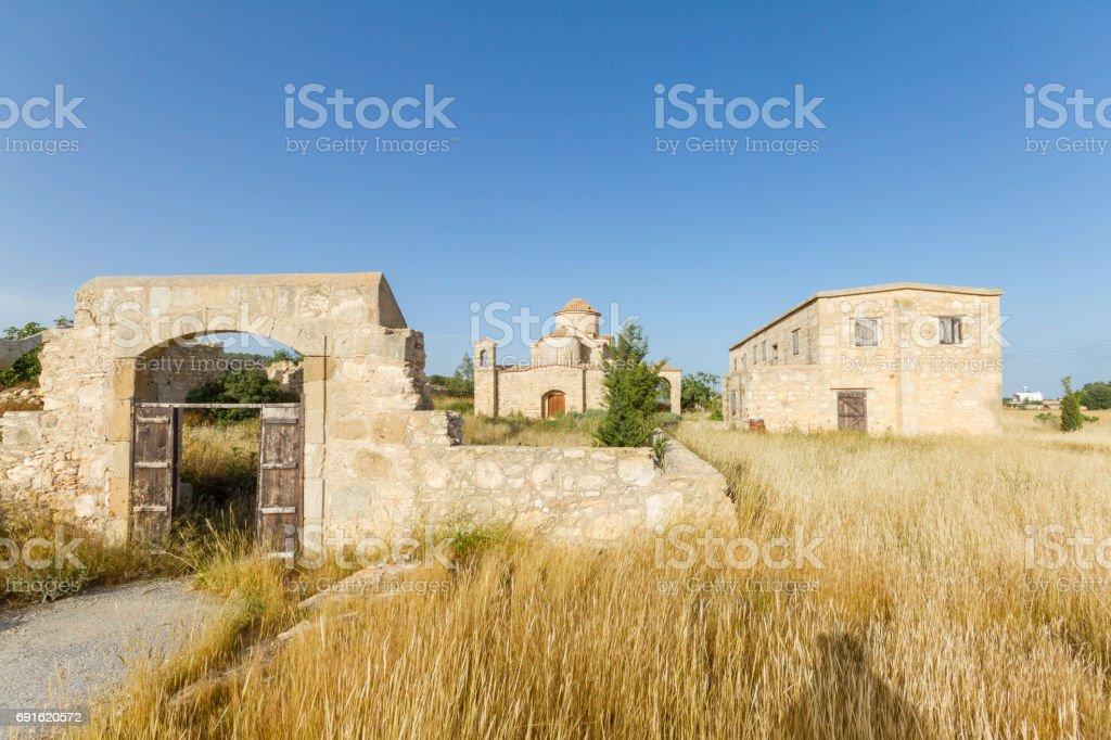 Panayia Kanakaria Monastery Church, Cyprus- overall view stock photo