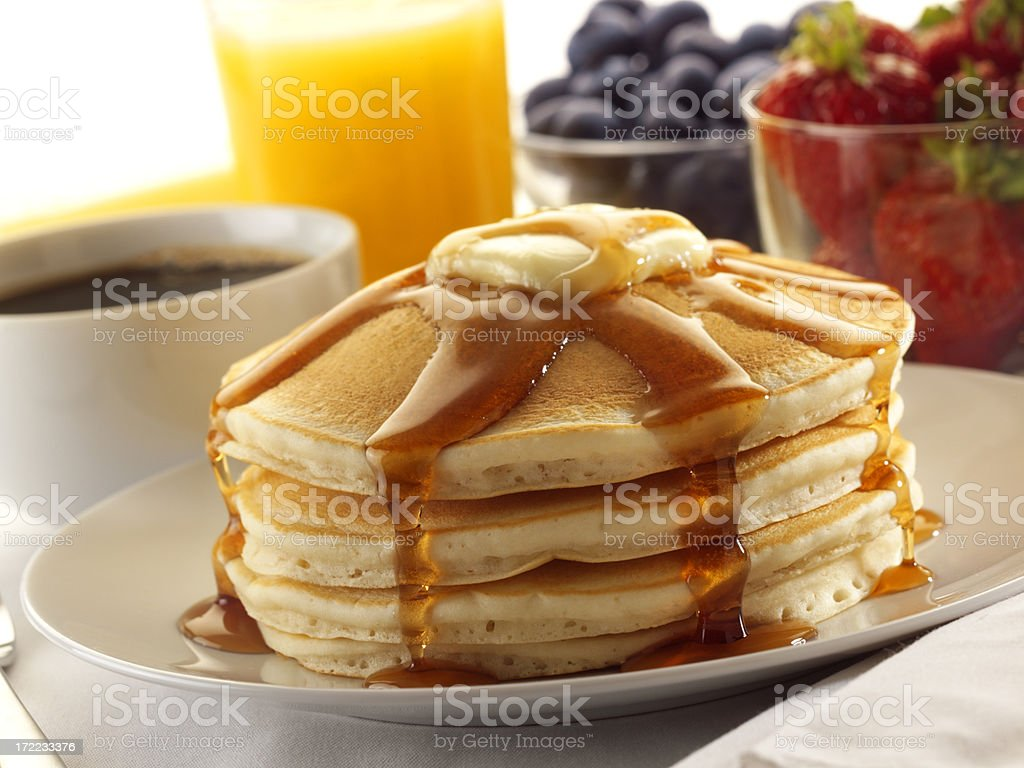 Pancake Breakfast royalty-free stock photo