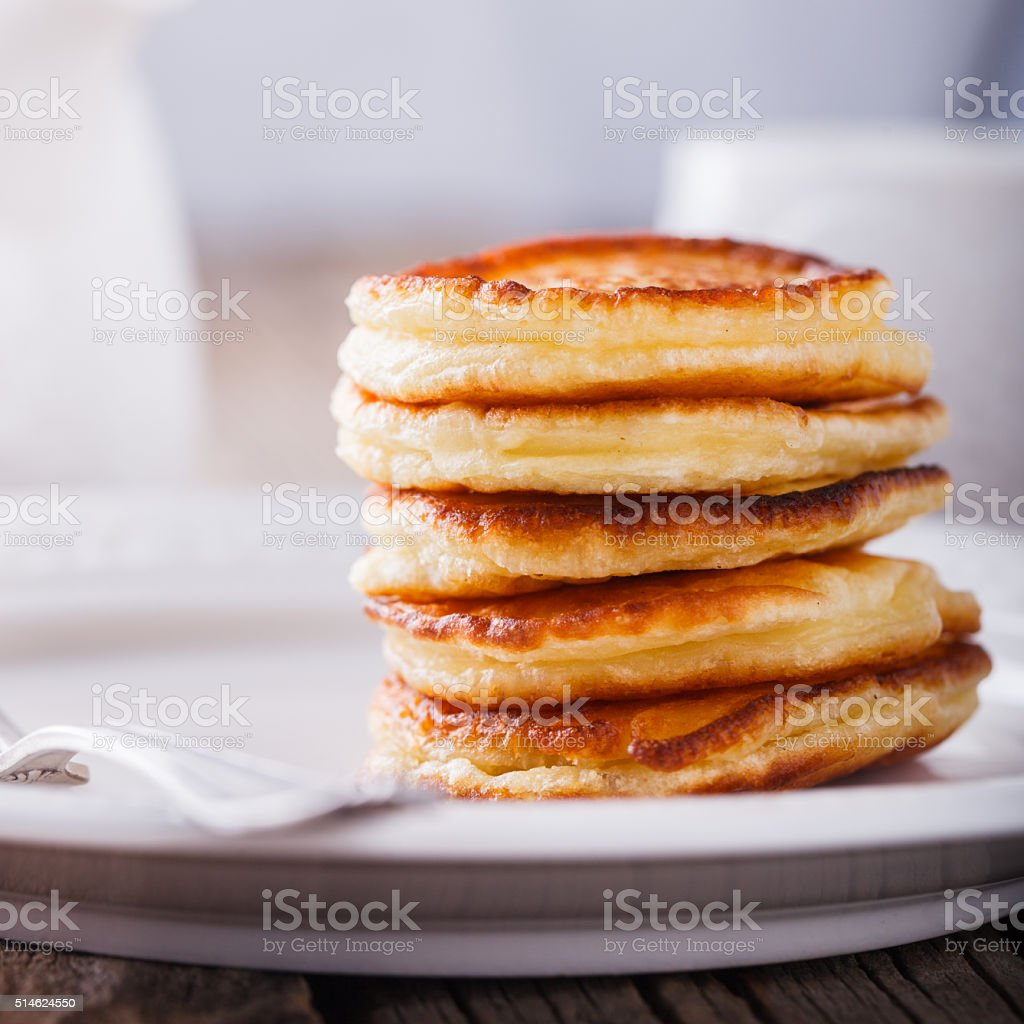 Pancake folded stack stock photo