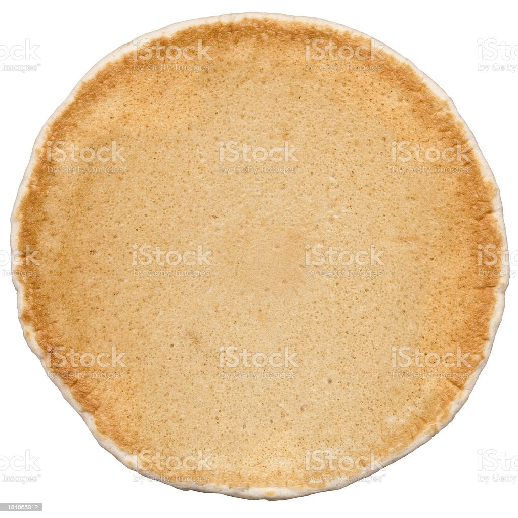 Pancake, Good Enough To Eat! Isolated On White, Clipping Path stock photo