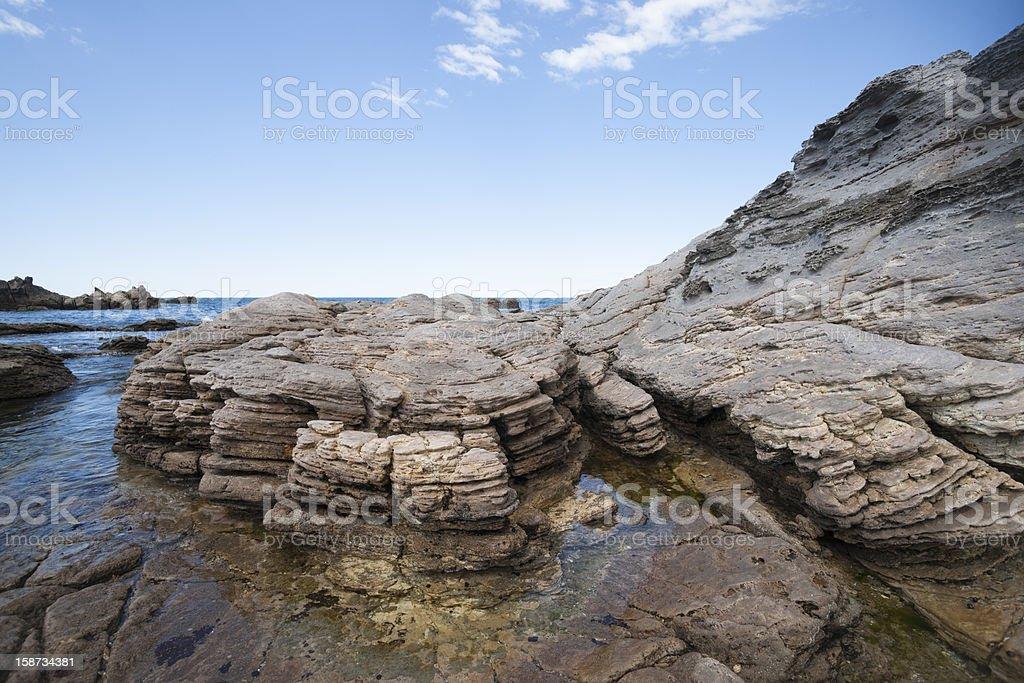 Pancake rock formation royalty-free stock photo