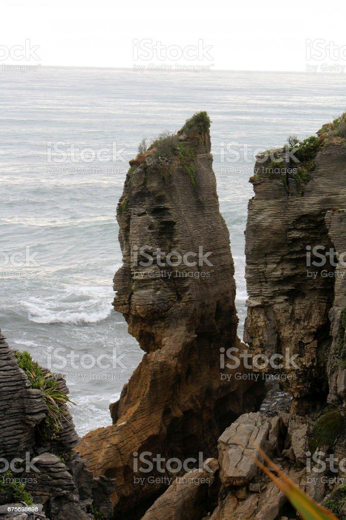 Pancake rock stock photo