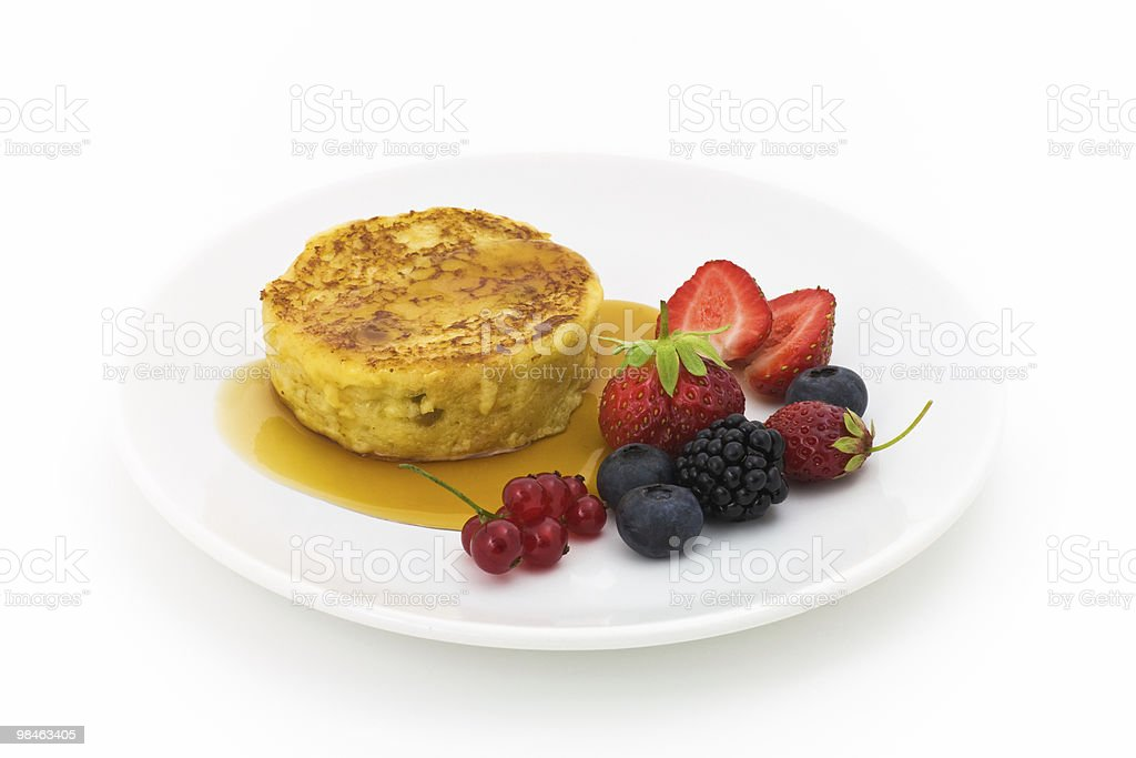Pancake with berries royalty-free stock photo