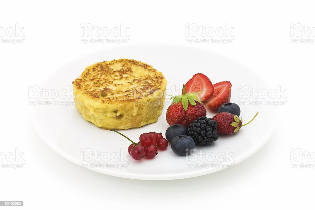 Pancake with berry fruits royalty-free stock photo