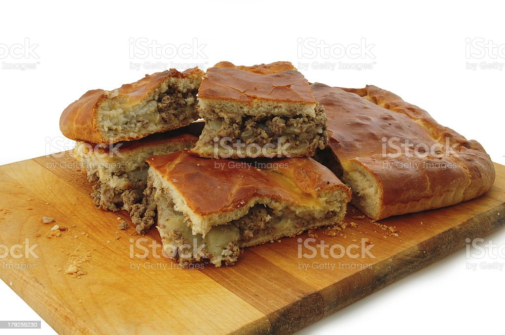 Pancake with meat royalty-free stock photo