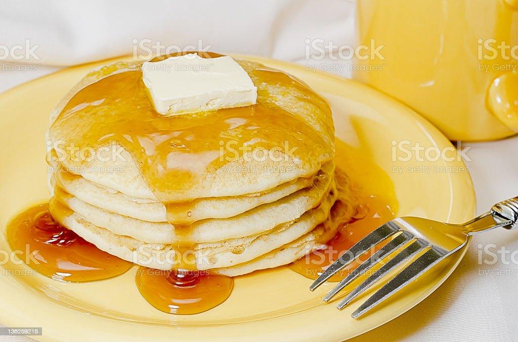 Pancakes and Coffee stock photo