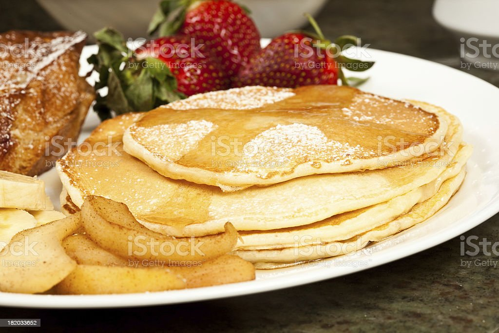 Pancakes and Maple Syrup royalty-free stock photo