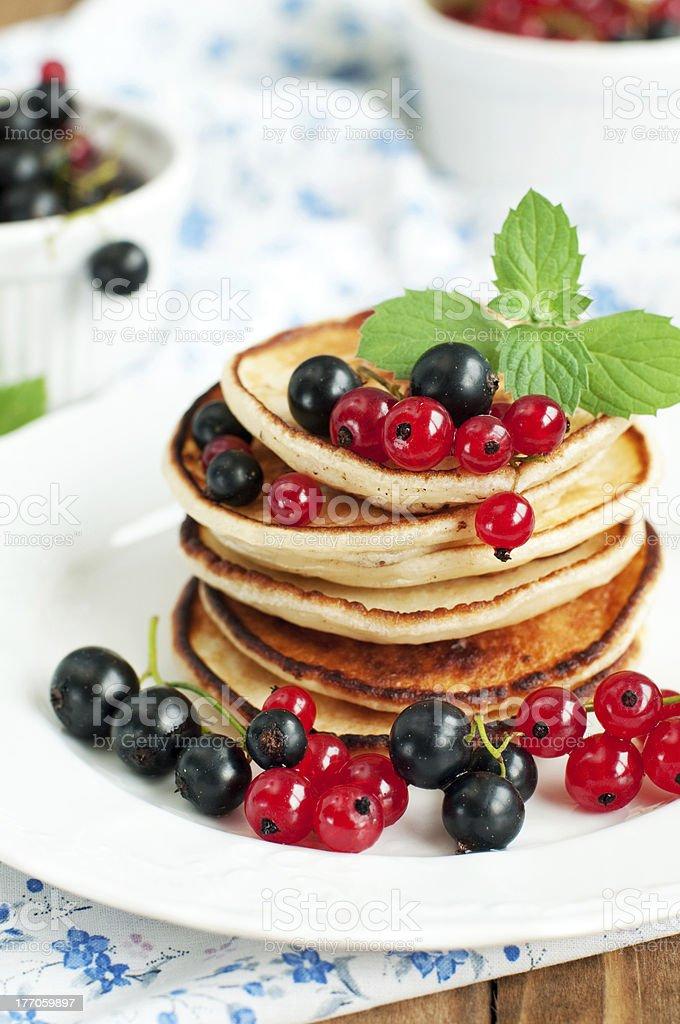 Crêpes pour le petit déjeuner photo libre de droits