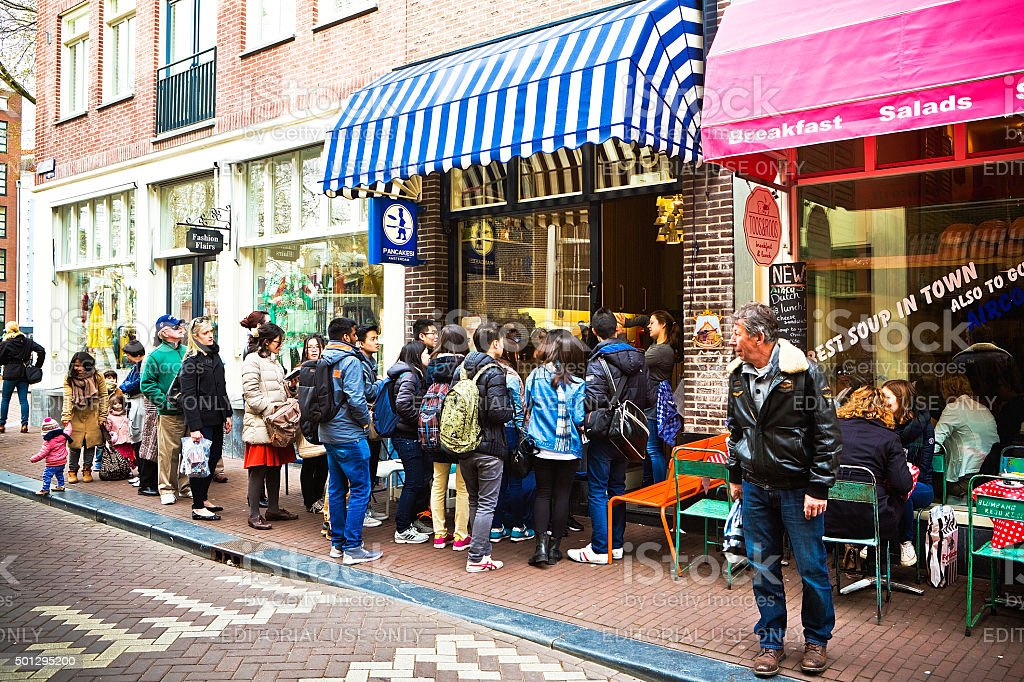 Pancakes in Old amsterdam royalty-free stock photo