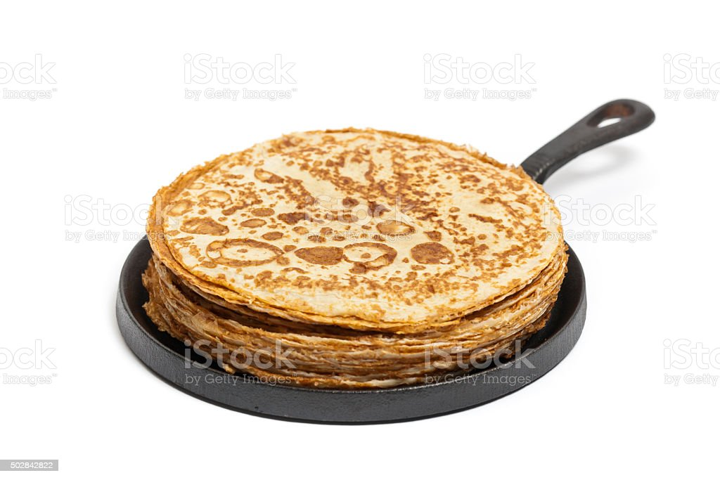 Pancakes or Russian Blintzes stock photo