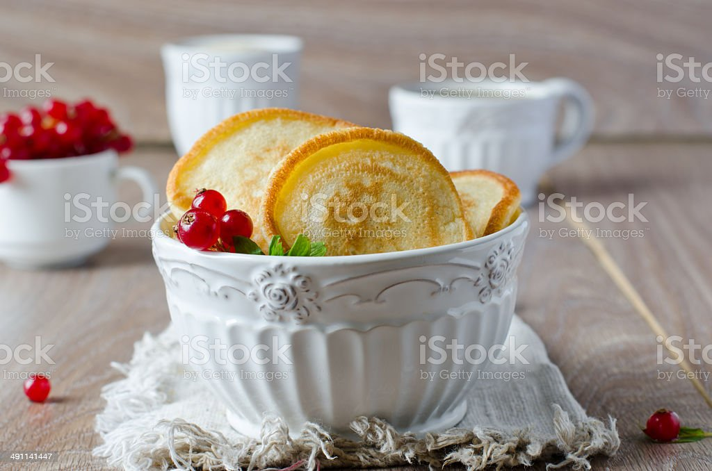 Pancakes with berries royalty-free stock photo