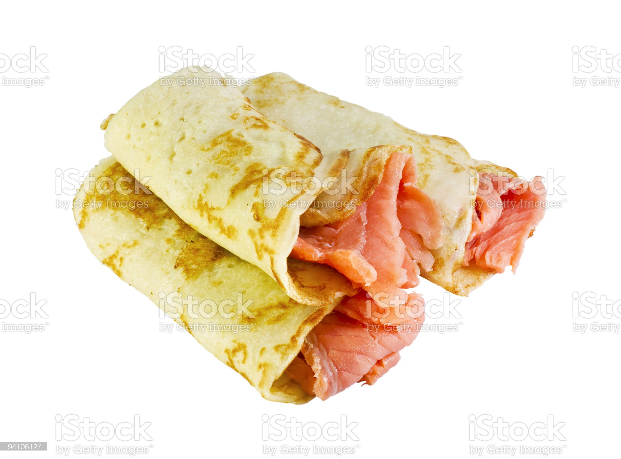 pancakes with fish filling royalty-free stock photo