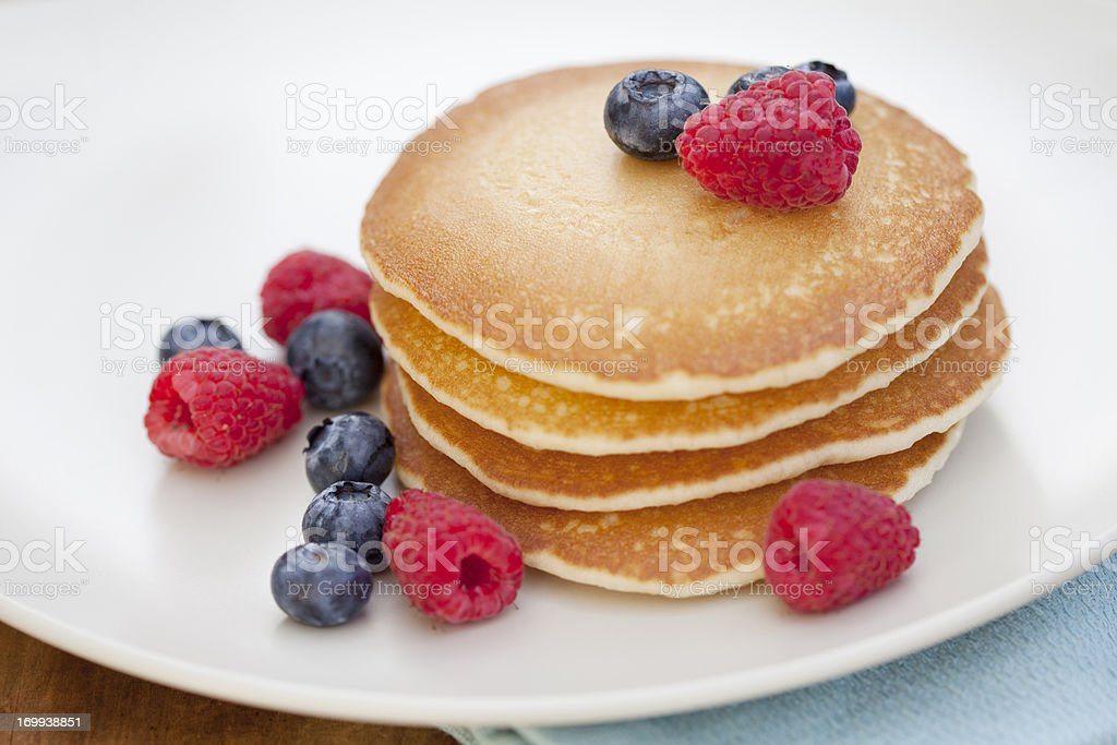 Pancakes with Fruit stock photo