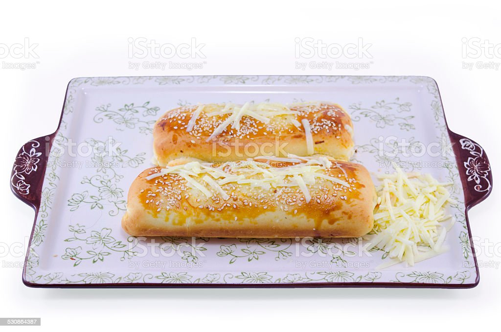 Pancerote on a tray, isolated royalty-free stock photo