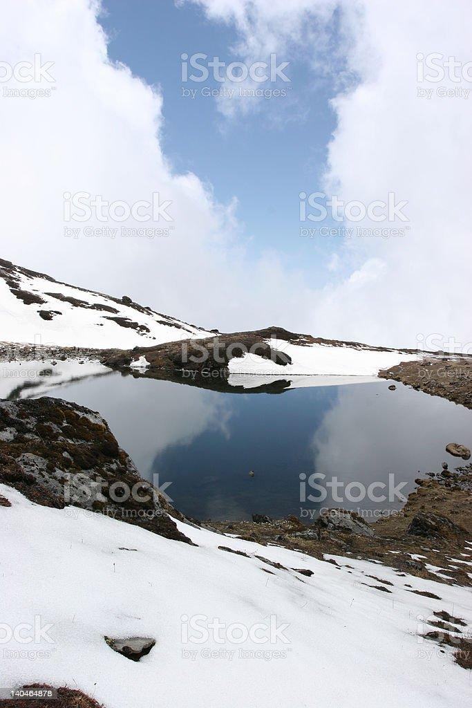 Panch Pakhori within the himalayas of nepal stock photo
