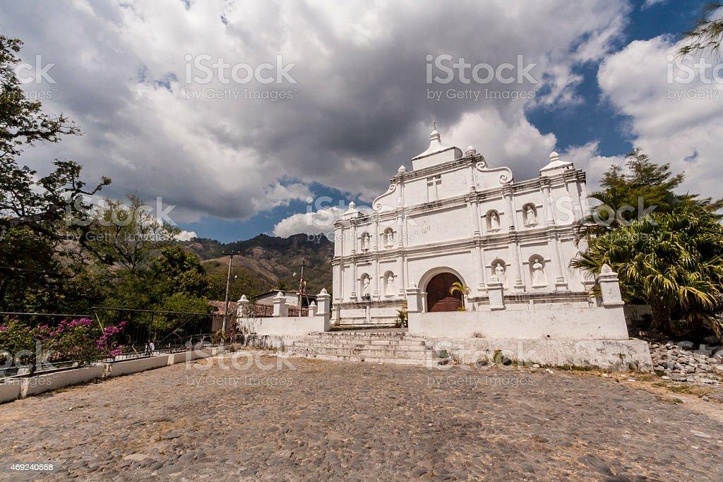 Panchimalco church in El Salvador stock photo