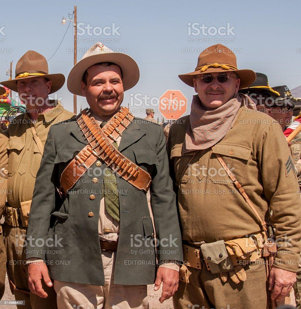 Pancho Villa Reenactor at Columbus, New Mexico stock photo