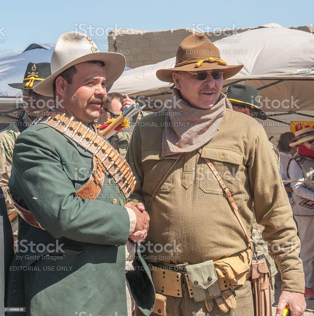 Pancho Villa Reenactor at Historical Event stock photo