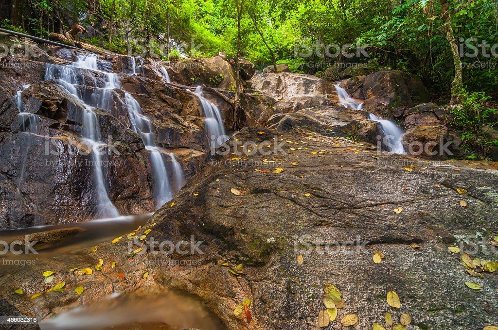 Panchur waterfall stock photo