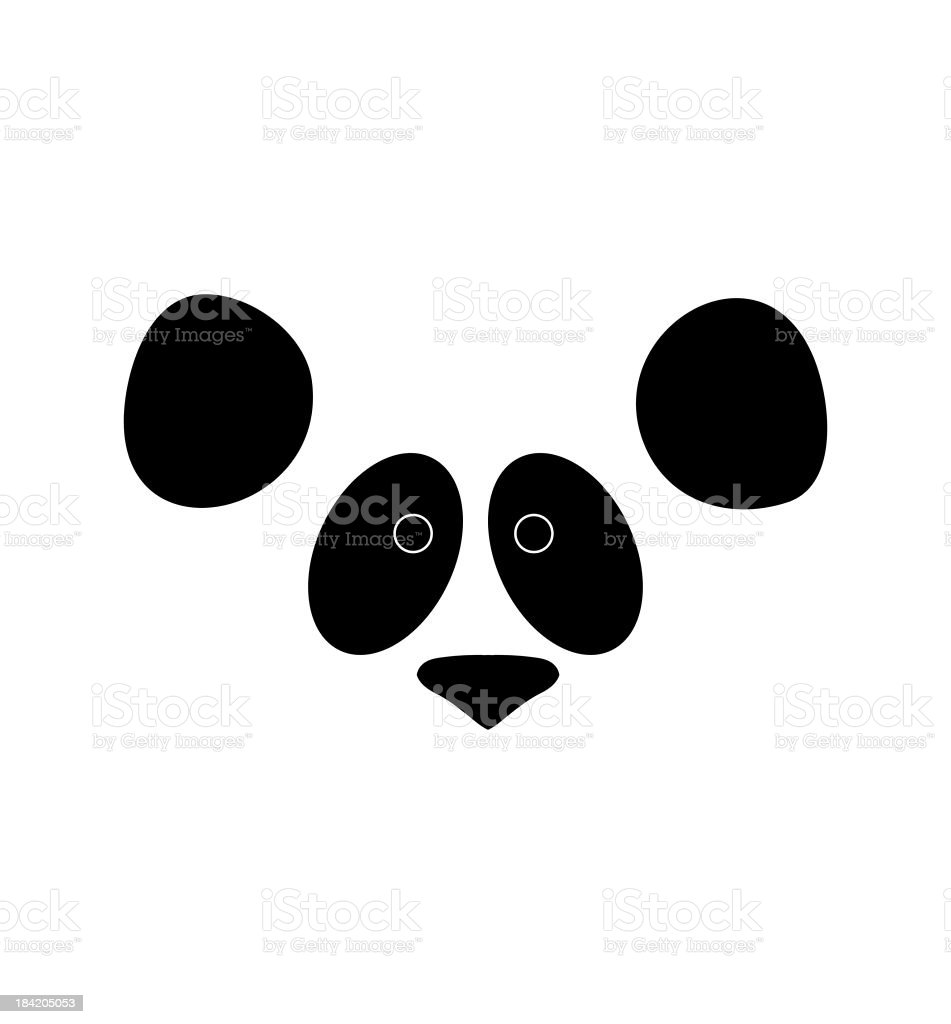 Panda face stock photo