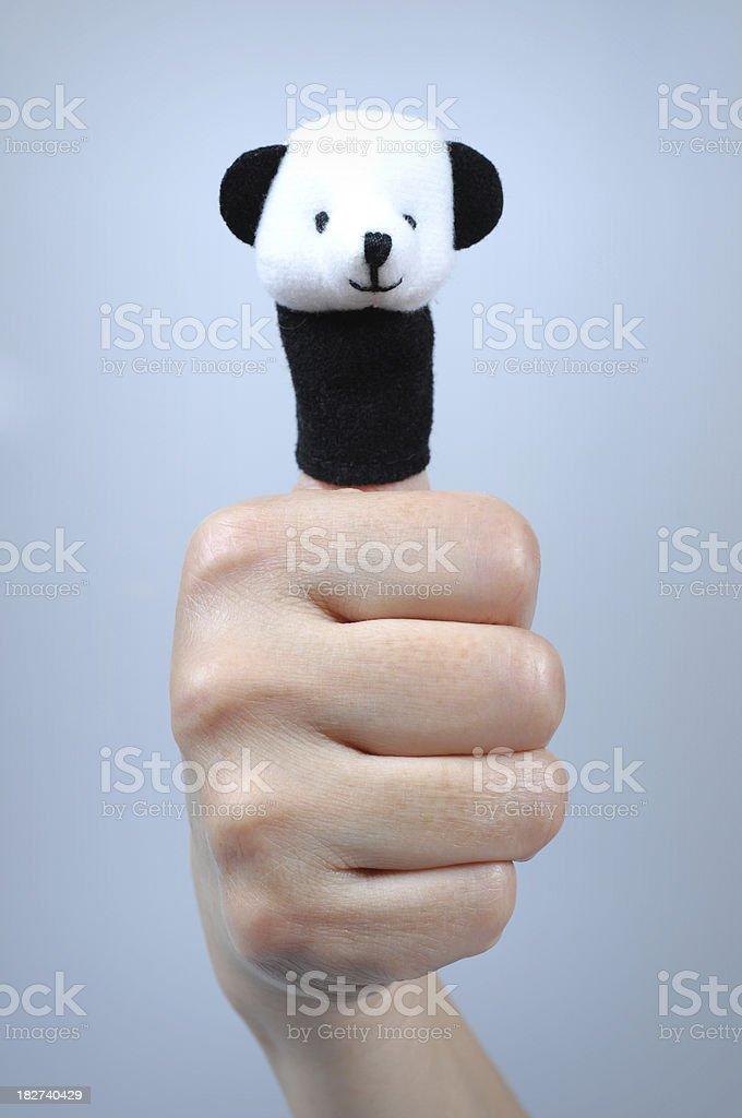 Panda On Finger - XLarge royalty-free stock photo