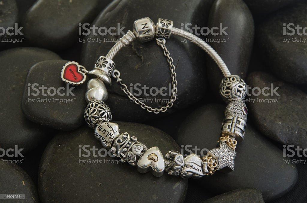 Pandora bracelet. stock photo