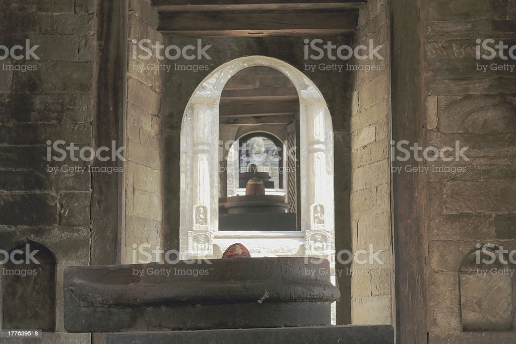 Pandra Shivalaya shrines-Pashupatinath temple-Deopatan-Kathmandu-Nepal. 0297 stock photo
