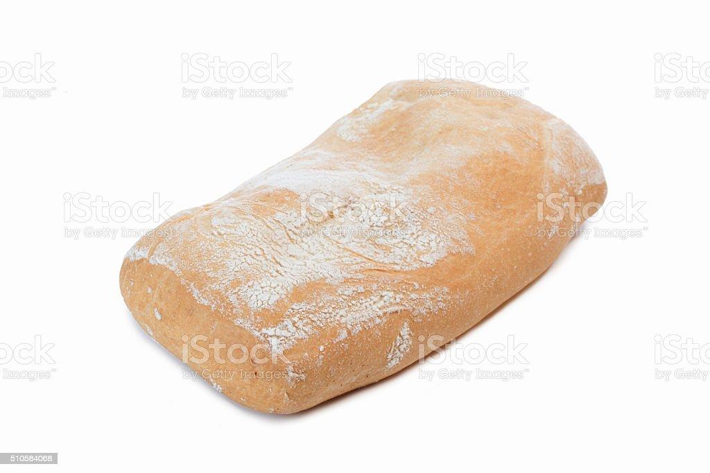 Pane bianco su sfondo bianco stock photo