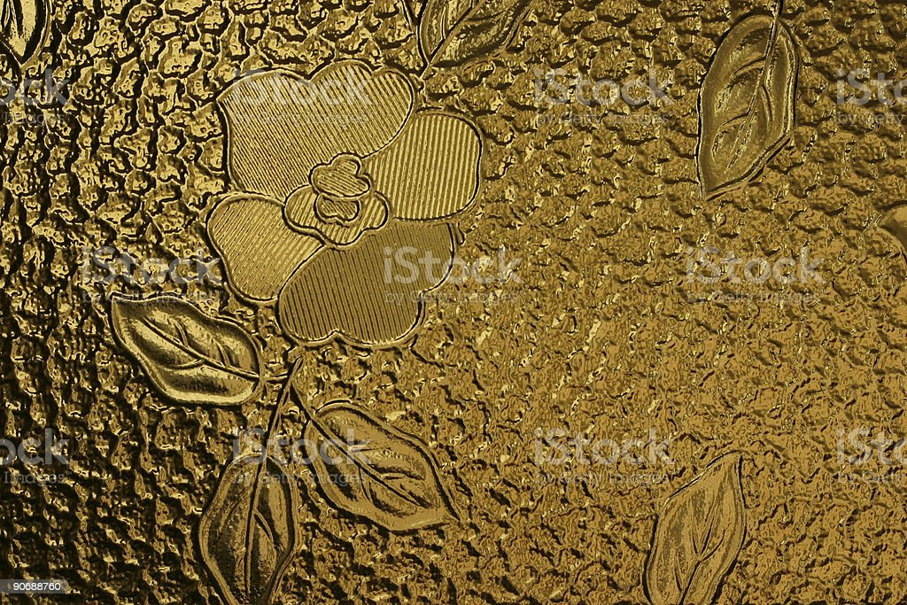 pane decorated with flower royalty-free stock photo
