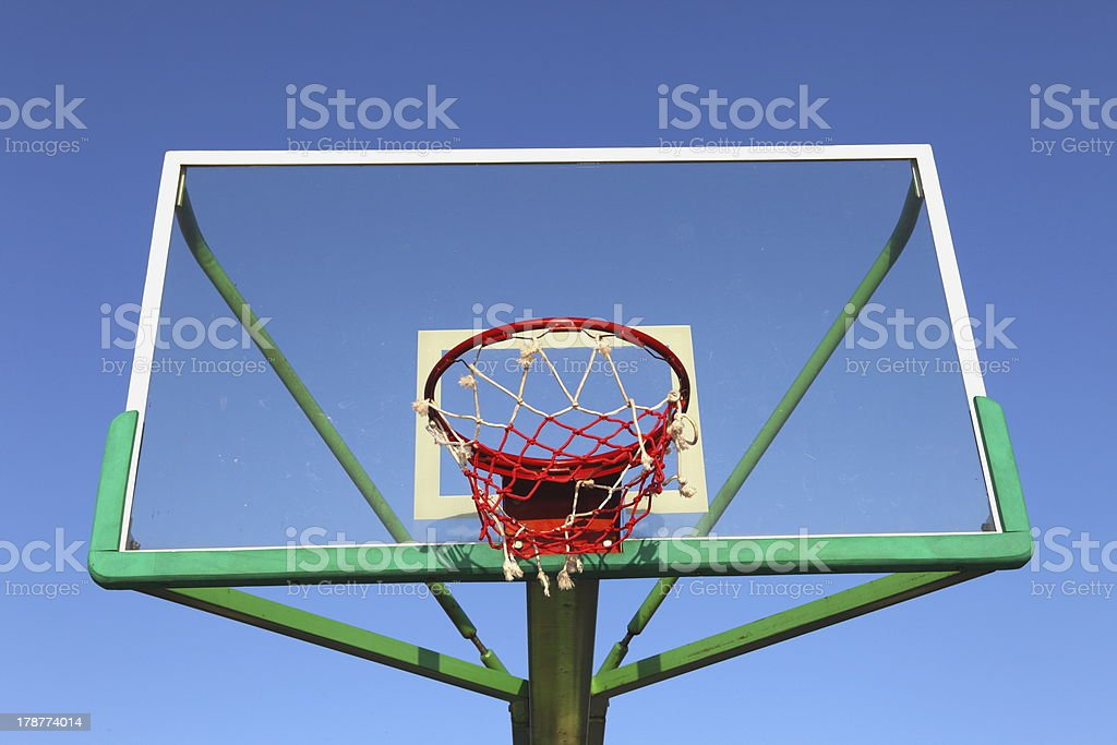 Panel basketball hoop royalty-free stock photo